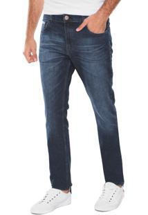 Calça Jeans Malwee Reta Azul