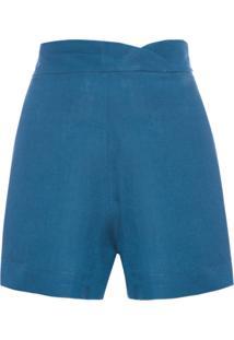 Short Feminino Wave - Azul