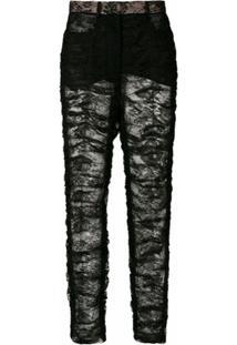 Dolce & Gabbana Calça Skinny De Renda - N0000