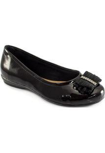 Sapatilha Com Laço Sapato Show - Feminino-Preto