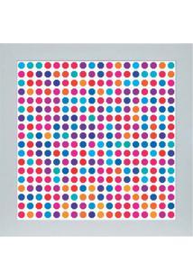 Quadro 65897 Abstrato 33X33 Cm Branco