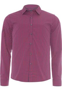 Camisa Masculina Slim - Rosa