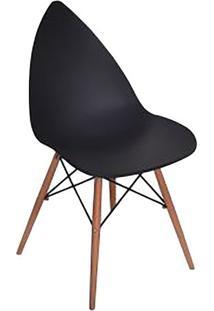 Cadeira Pingo- Preta & Marrom- 88,5X50X55Cm- Falfalkk