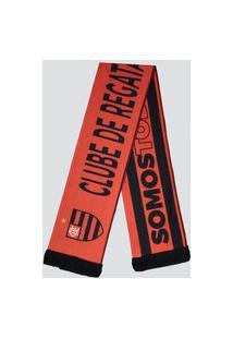 Cachecol Flamengo Torcedor Vermelha E Preta