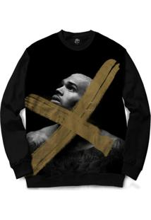 Blusa Bsc Chris Brown X Full Print - Masculino