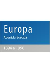 Jogo Americano Nerderia Ruas Europa Azul - Azul - Dafiti