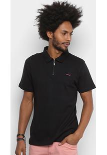 Camisa Polo Colcci Básica Zíper Masculina - Masculino-Preto e5f050d8c5b8a