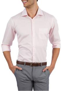 Camisa Social Masculina Upper Rosa Lisa
