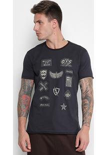 Camiseta Gangster Patches Masculina - Masculino