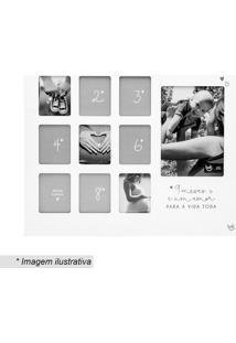 Painel De Fotos Maternidade- Branco & Cinza- 34,5X41Ludi