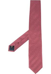 United Arrows Gravata De Seda Com Textura - Rosa