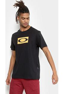 Camiseta Oakley Ellipse Mesh Masculina - Masculino-Preto