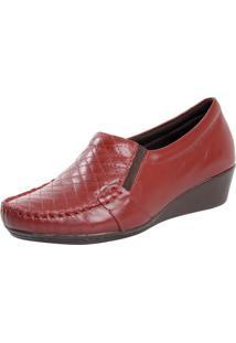 Sapato Fechado Laura Prado Confort Vermelho