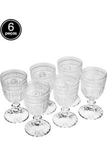 Conjunto 6 Taças Para Vinho De Vidro Aubusson 240Ml Bon Gourmet