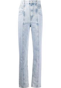 Isabel Marant Étoile Calça Jeans Cintura Alta Com Pregas - Roxo
