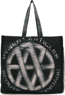 Vyner Articles Bolsa Tote Destroyed De Canvas - Preto