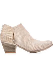 Officine Creative Ankle Boot Giselle De Couro - Cinza