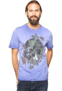 Camiseta John John Estampada Roxo