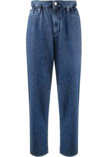 Karl Lagerfeld Calça Cenoura Cintura Alta - Azul