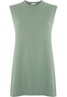 Osklen Blusa Sleeveless Long Rustic Canelada - Verde