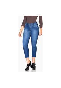 Calça Jeans Rock Show Cropped Skinny Azul