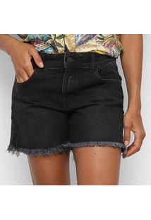 Bermuda Jeans Colcci Diária Feminina - Feminino-Azul+Preto