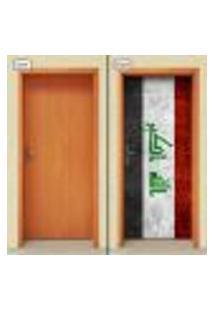 Adesivo Decorativo De Porta - Bandeira Iraque - 1896Cnpt