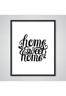 Quadro Decorativo Sweet Home Casa 84 Decor - Branco/Multicolorido/Preto - Dafiti