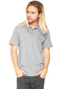 Camisa Polo Quiksilver Slim Cinza