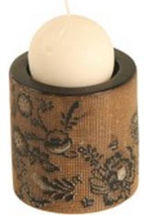 Castiçal De Porcelana Flower
