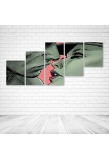 Quadro Decorativo - Love Illustration - Composto De 5 Quadros