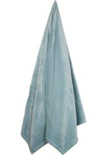 Cobertor Velour De Casal- Verde ÁGua- 180X220Cm-Camesa