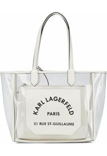 Karl Lagerfeld Bolsa Tote K/Journey Translúcida - Branco