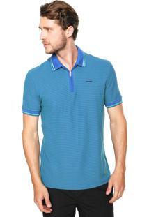 Camisa Polo Sommer Zíper Azul