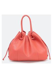 Bolsa Modelo Shopper Com Enforcador | Satinato | Coral | U