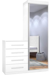 Cômoda Multiuso Thor New Com Espelho Branco Jea Móveis
