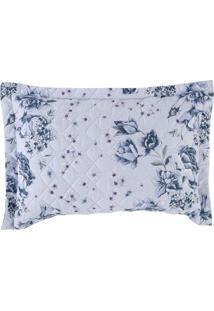 Porta Travesseiro Altenburg Home Collection 180 Fios 50Cm X 70Cm Nostalgie Azul