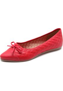 Sapatilha Dafiti Shoes Matelassê Vermelha