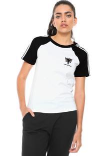 Camiseta Cavalera Logo Branca/Preta