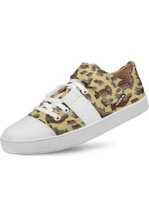 Tênis Usthemp Lo Fly Vegano Casual Gato Maine Coon Off-White