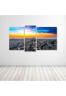 Quadro Decorativo - Panorama Paris - Composto De 5 Quadros - Multicolorido - Dafiti