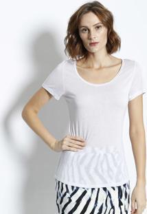 Camiseta Lisa Com Transparência - Brancacanal