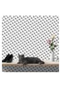Papel De Parede Autocolante Rolo 0,58 X 3M - Preto E Branco 468