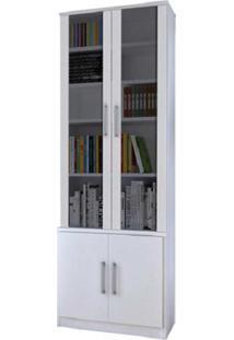 Estante De Livros 4 Portas Branco M Foscarini