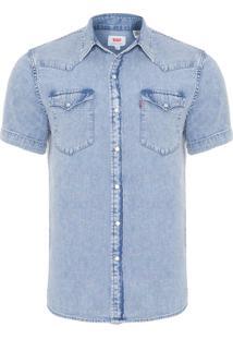 Camisa Masculina Classic Western - Azul Claro