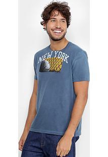 Camiseta Calvin Klein Estampada Masculina - Masculino-Marinho