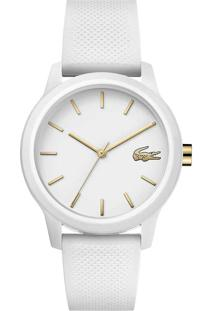 Relógio Lacoste Feminino Borracha Branca - 2001063