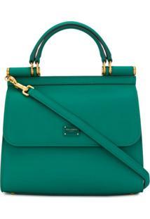 Dolce & Gabbana Bolsa Tote Sicily 58 Pequena - Verde