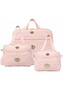 Conjunto Bolsas Hug Mimo Rosa