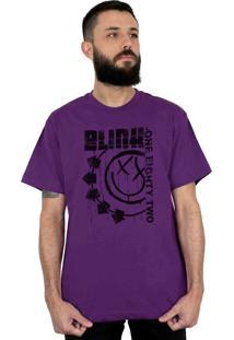 Camiseta 182Life Blink One Eighty Two Roxo